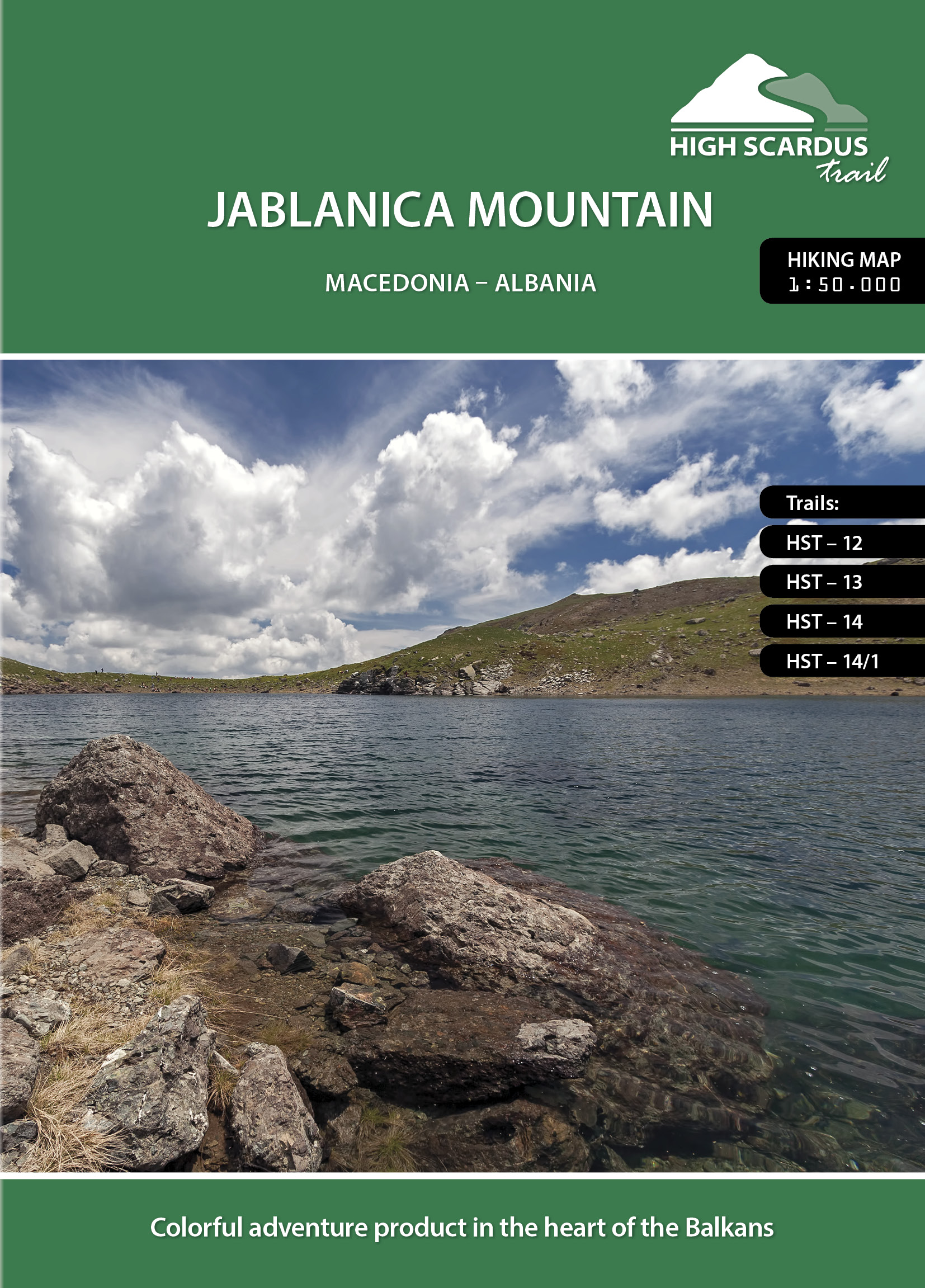 High Scardus Trail Map 5/6 Jablanica Mountain